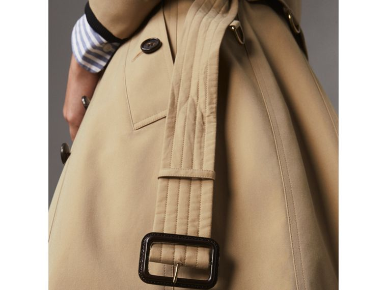 The Chelsea – Trench coat extralongo (Mel) - Mulheres | Burberry - cell image 4