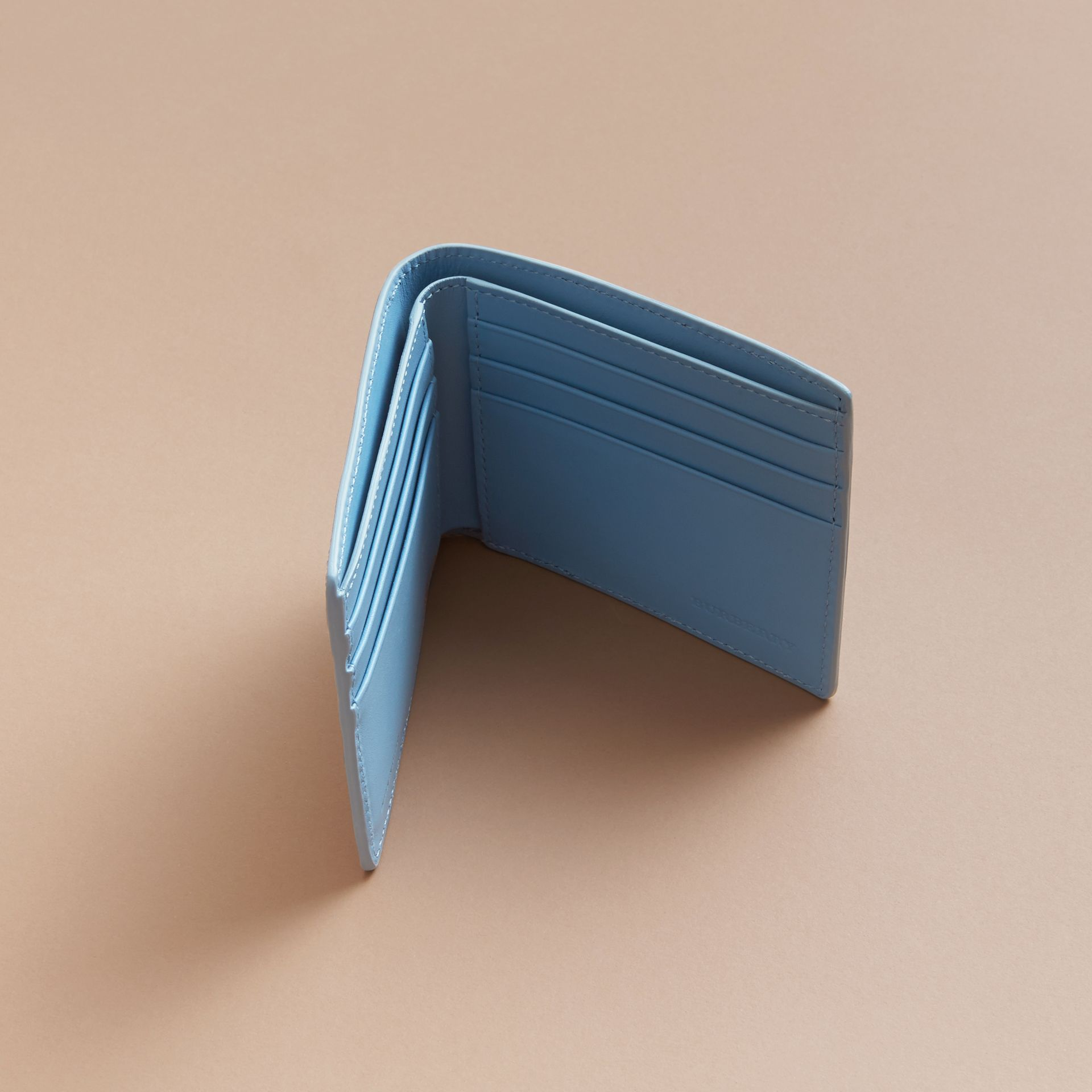 London Leather Bifold Wallet in Powder Blue - gallery image 5
