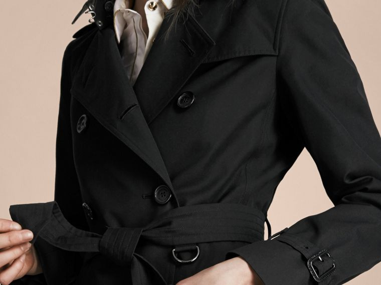 Negro Trench coat Kensington - Trench coat Heritage largo Negro - cell image 4
