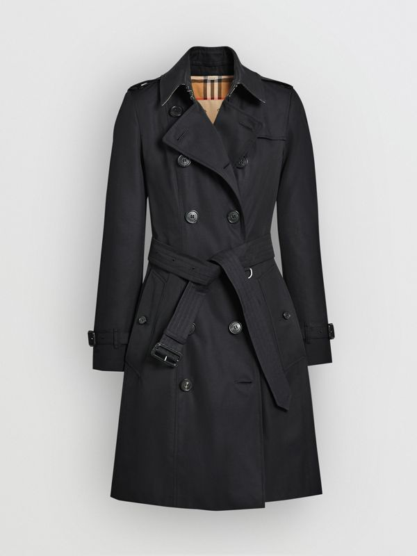 The Chelsea Heritage Trench Coat in Midnight - Women | Burberry Singapore - cell image 3