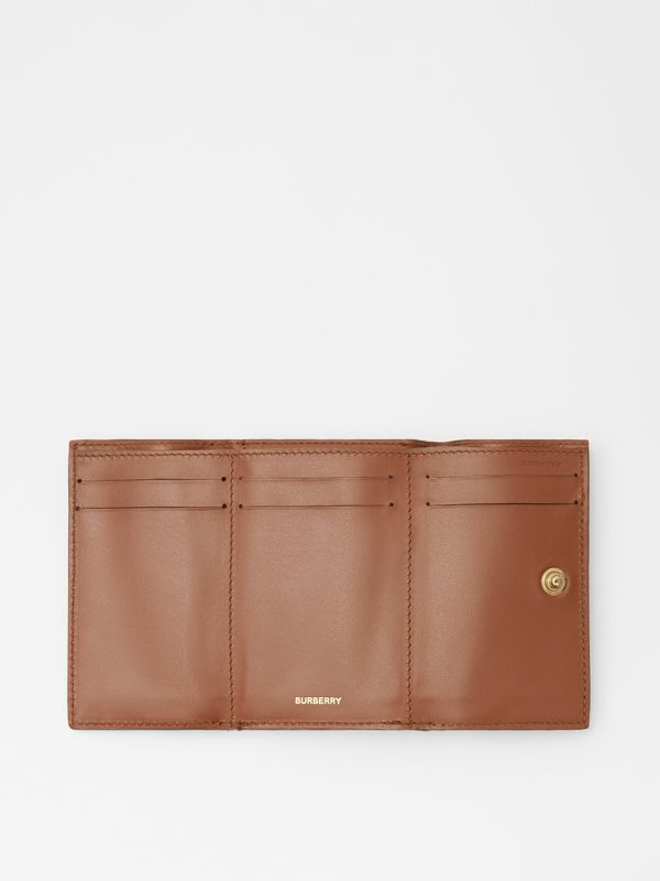 Small Vintage Check E-canvas Folding Wallet in Malt Brown - Women | Burberry - cell image 3
