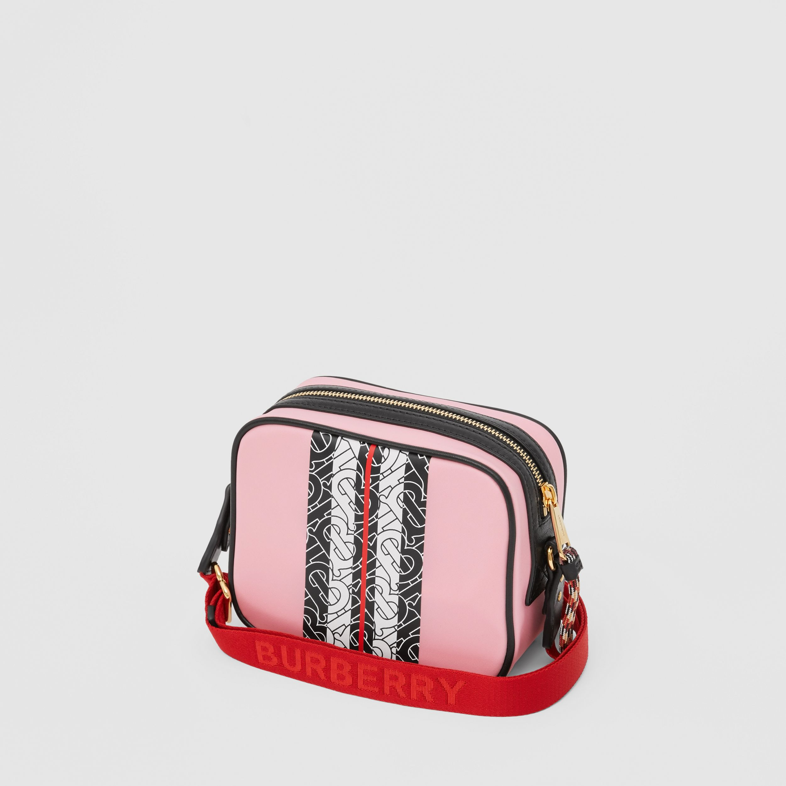 Monogram Stripe Print ECONYL® Camera Bag in Candy Pink - Children | Burberry - 3
