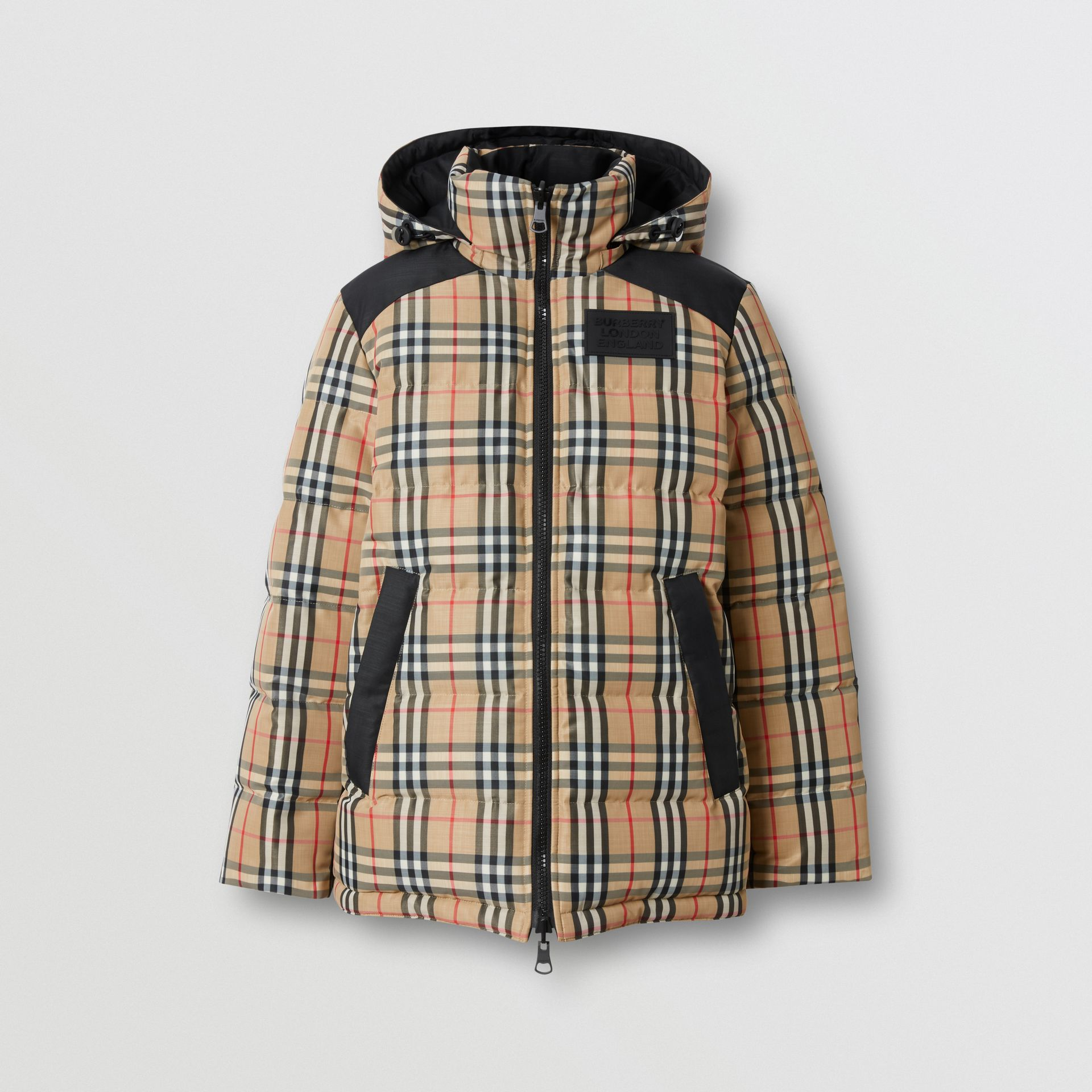 Reversible Vintage Check Recycled Polyester Jacket in Archive Beige - Women | Burberry - gallery image 3
