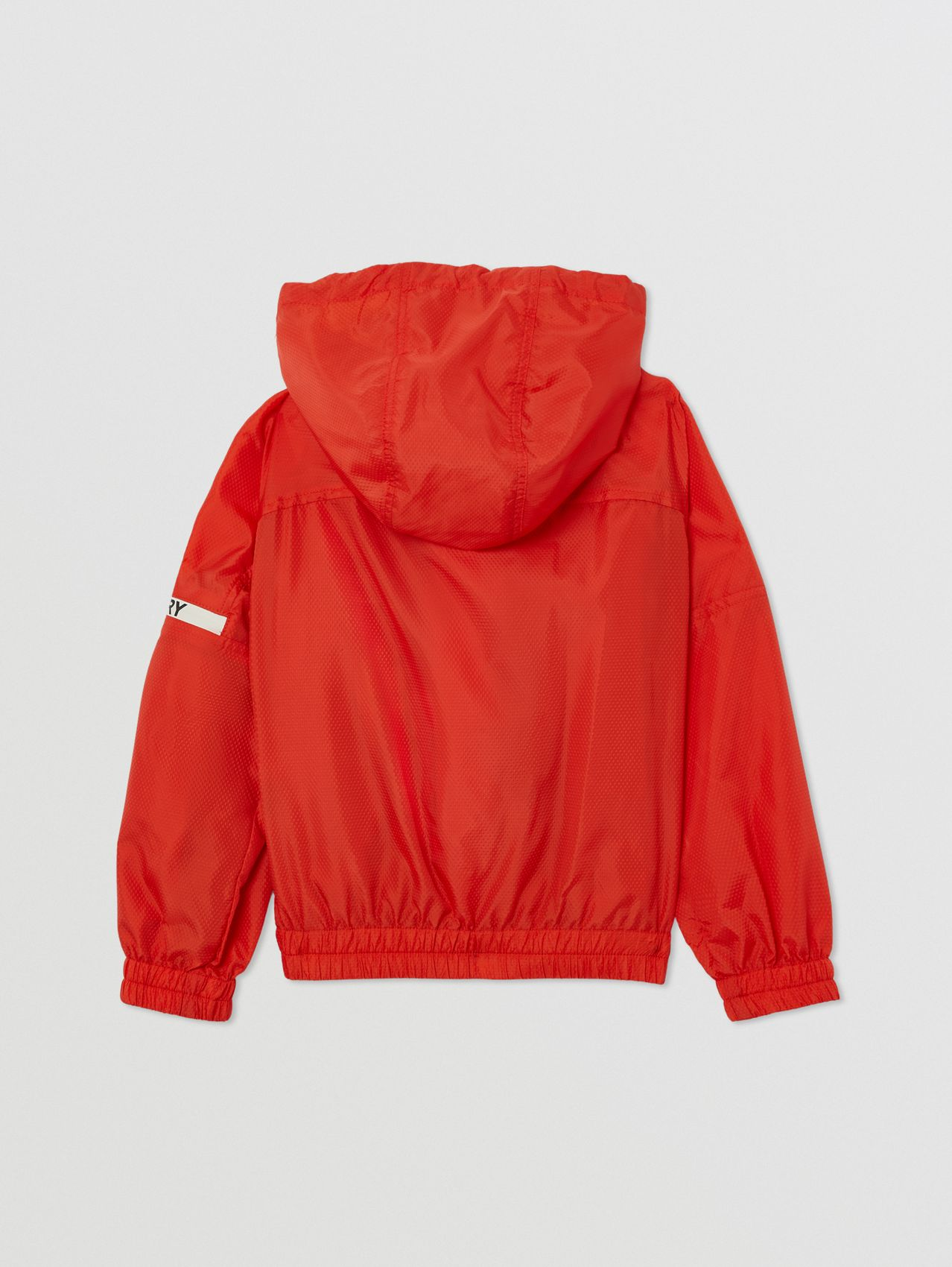 Logo Print Lightweight Hooded Jacket in Orange Red