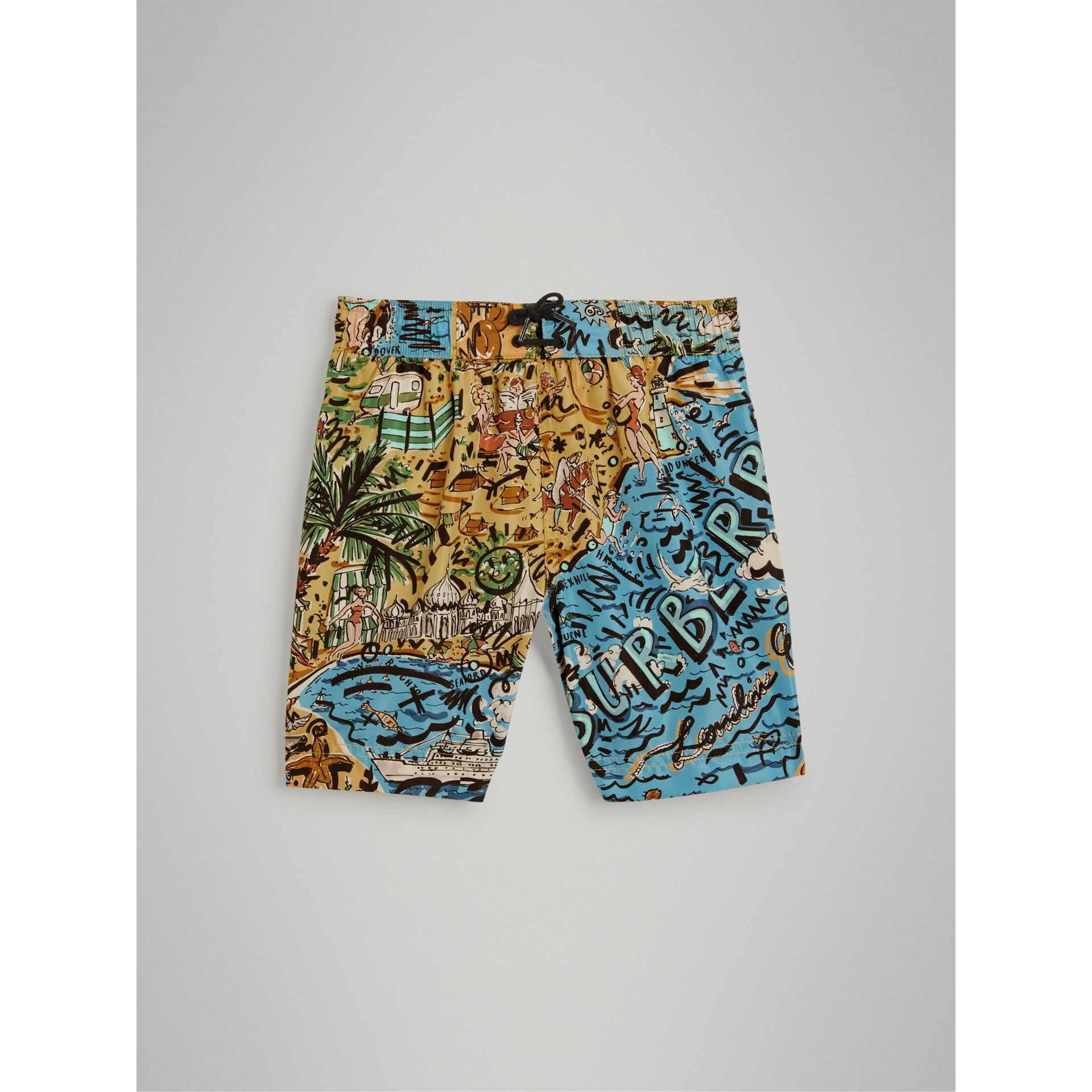Seaside Print Swim Shorts in Sand - Boy | Burberry Canada - gallery image 2