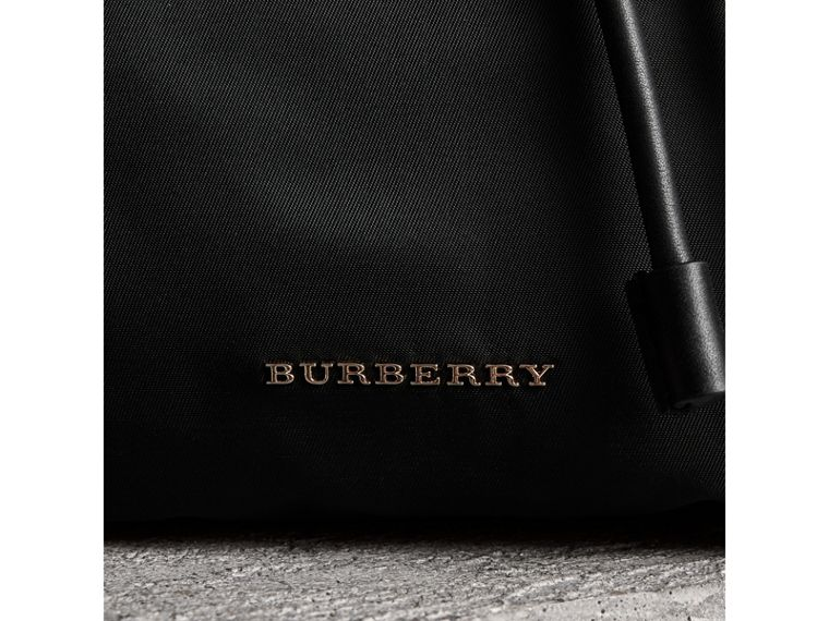 The Small Crossbody Rucksack in Nylon in Black - Women | Burberry United Kingdom - cell image 1