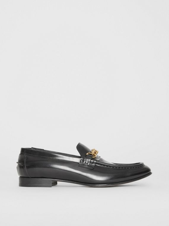 The Leather Link Loafer in Black