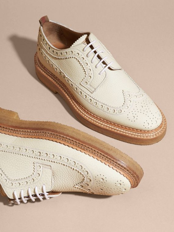 Leather Wingtip Brogues Off White - cell image 2
