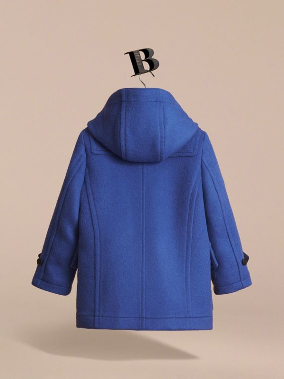Hooded Wool Duffle Coat in Cobalt Blue - Boy | Burberry - cell image 3