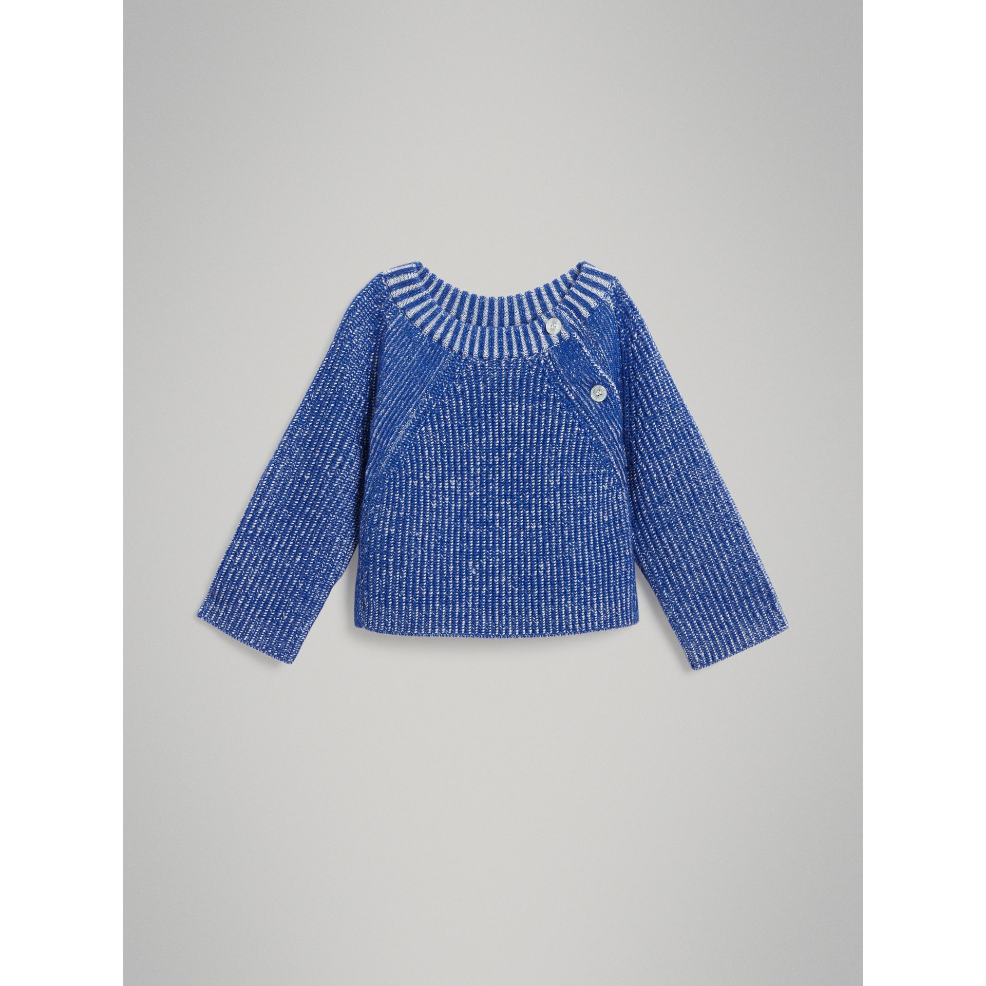 Rib Knit Merino Wool Sweater in Cerulean Blue - Children | Burberry - gallery image 0