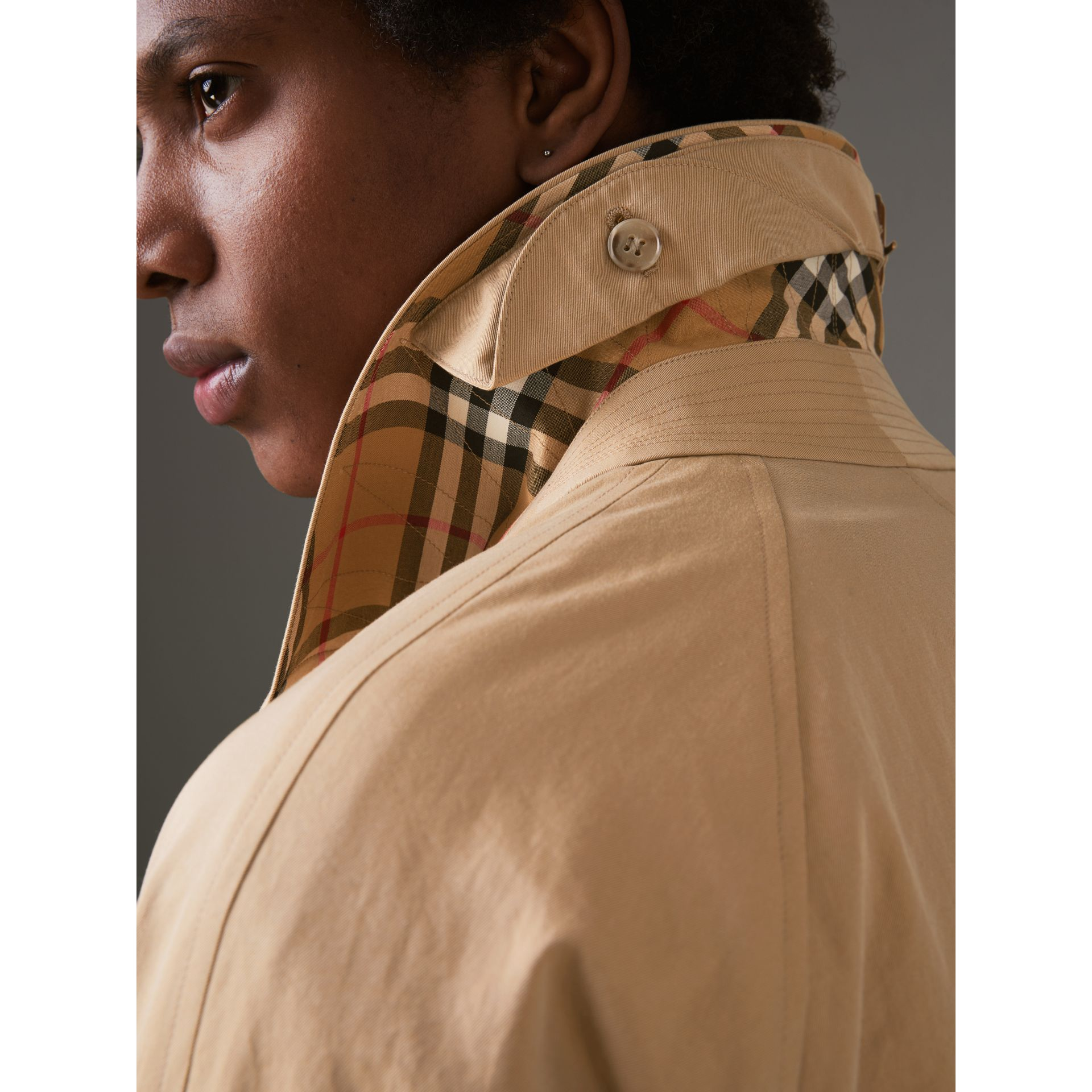 The Camden Car Coat in Honey - Men | Burberry - gallery image 4