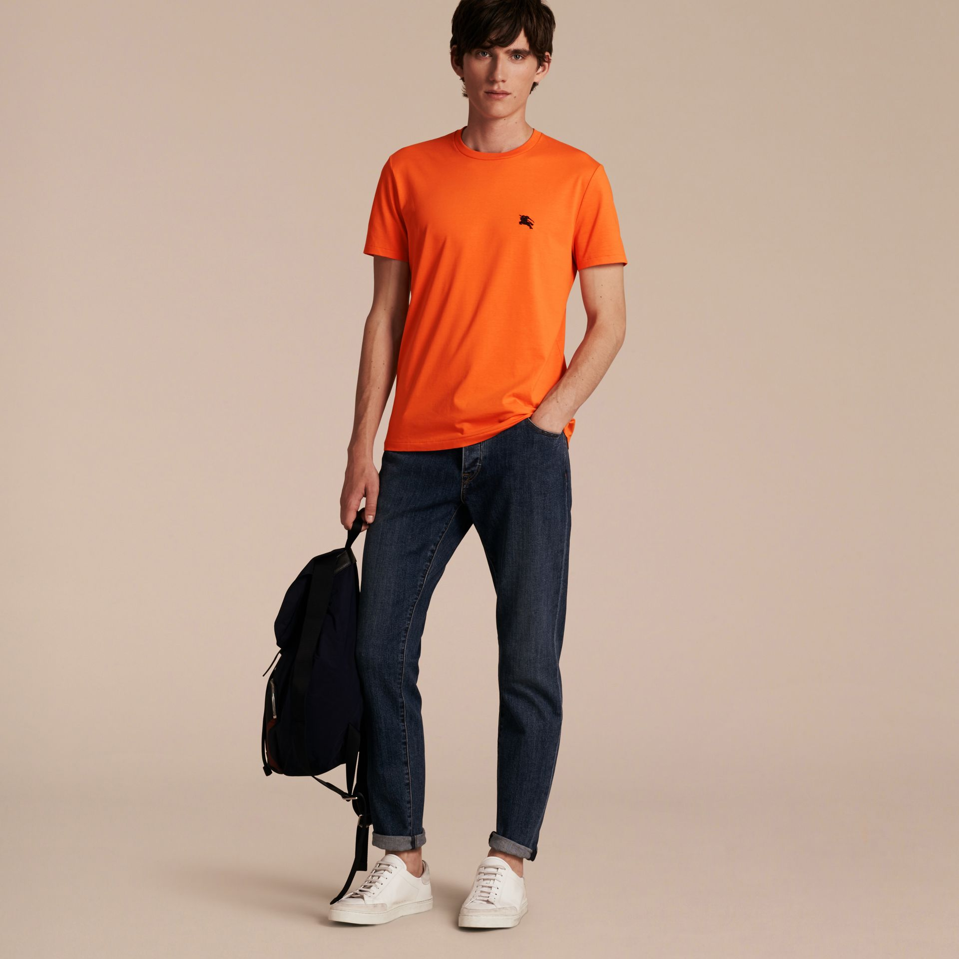 Liquid-soft Cotton T-Shirt Clementine - gallery image 6