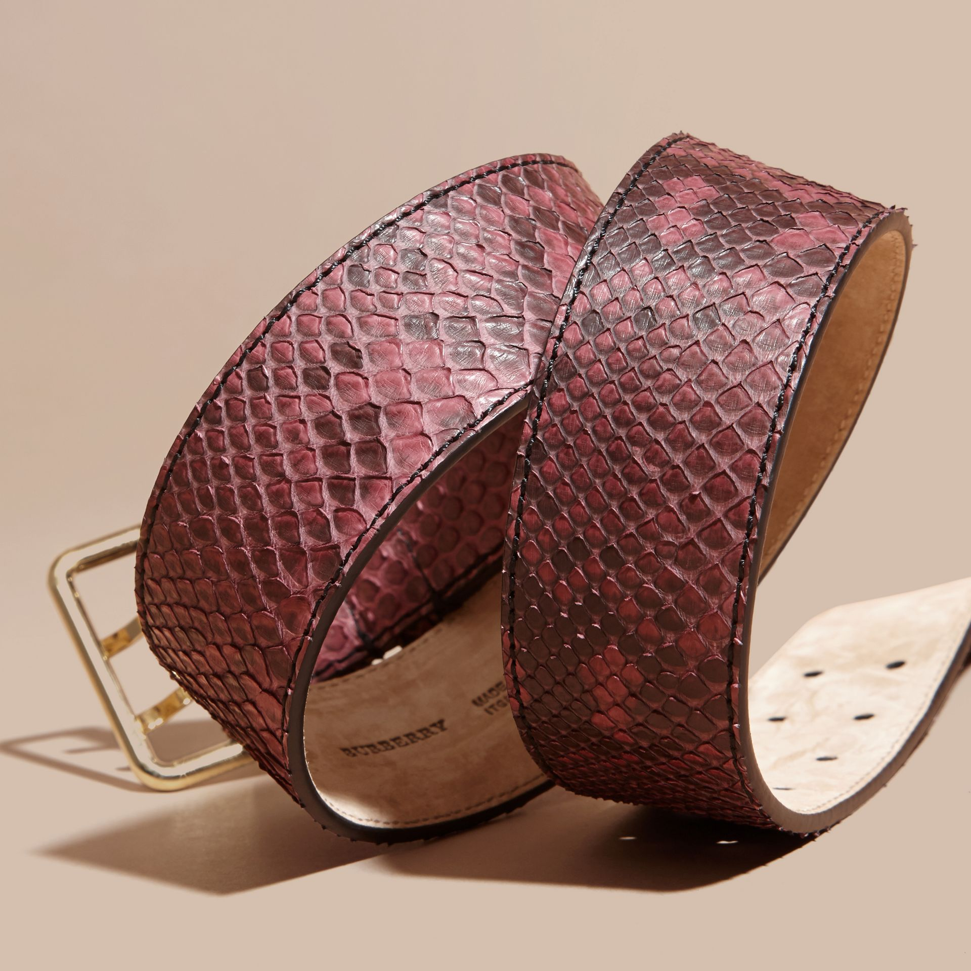 Python Belt in Elderberry - Women | Burberry - gallery image 2