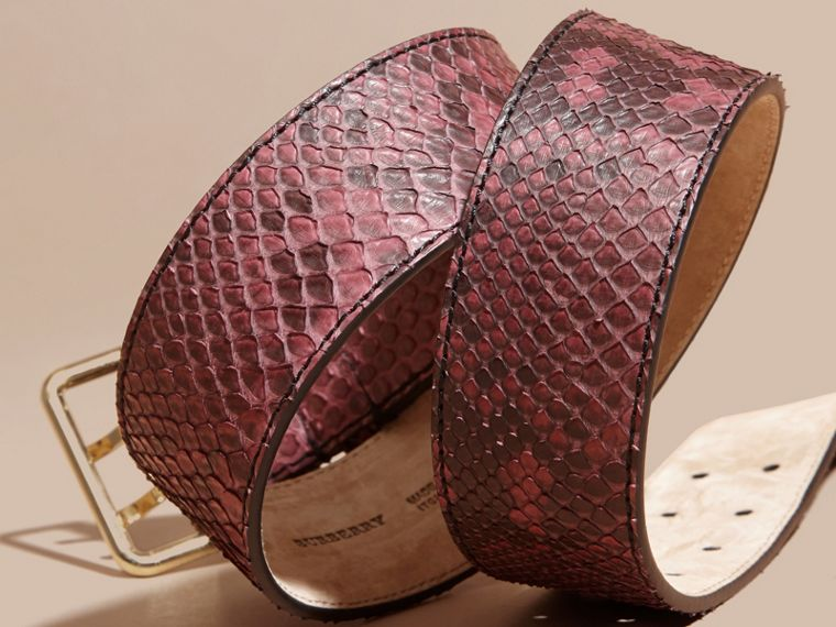 Python Belt in Elderberry - Women | Burberry - cell image 1