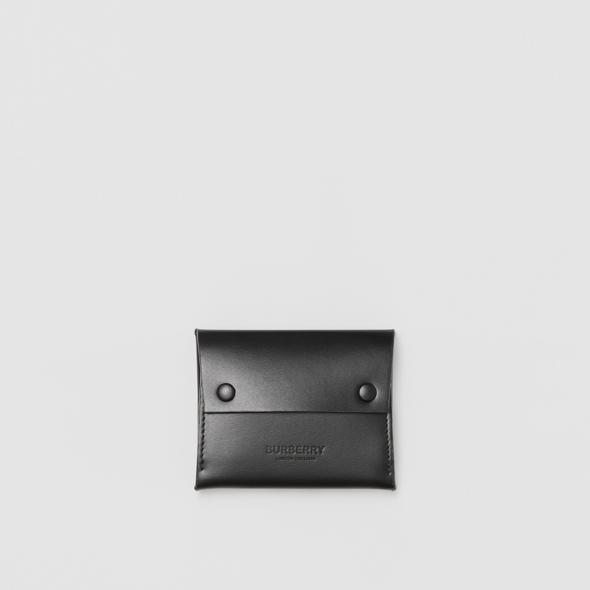 Leather Envelope Card Case in Black - Men | Burberry - 1