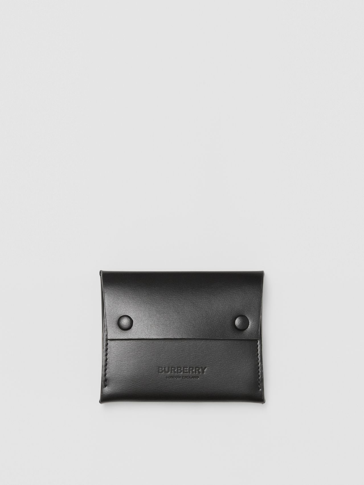 Leather Envelope Card Case in Black