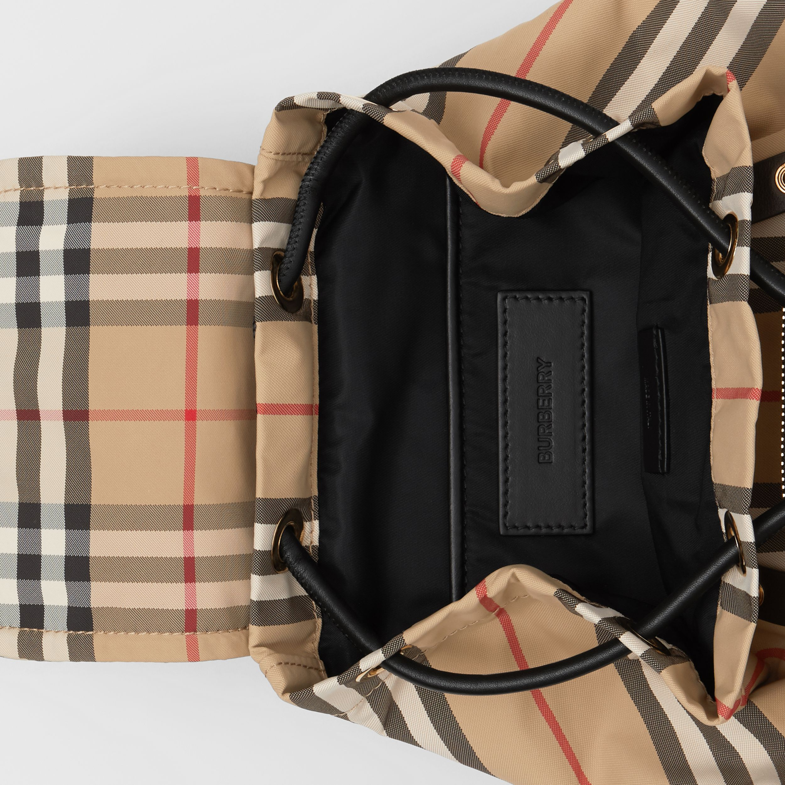 The Small Rucksack in Icon Stripe ECONYL® - Women | Burberry - 4