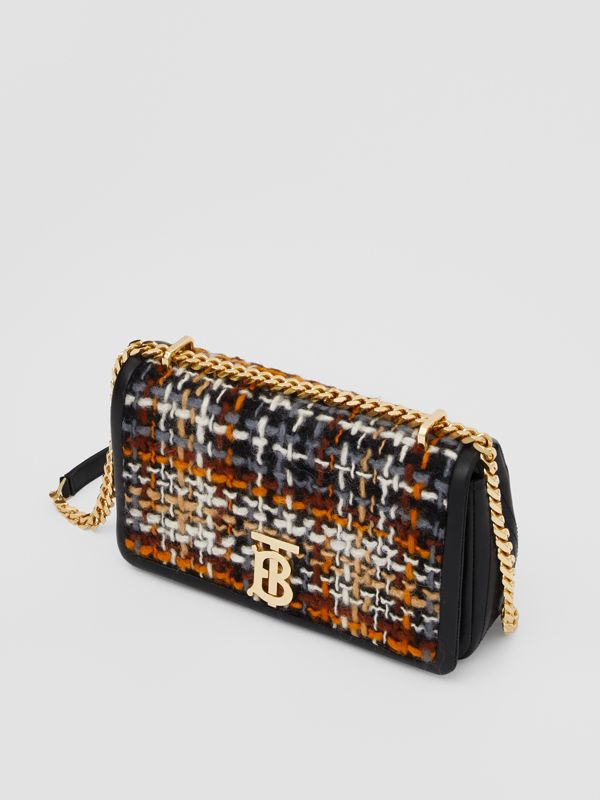 Small Tweed and Lambskin Lola Bag in Black - Women | Burberry - cell image 3