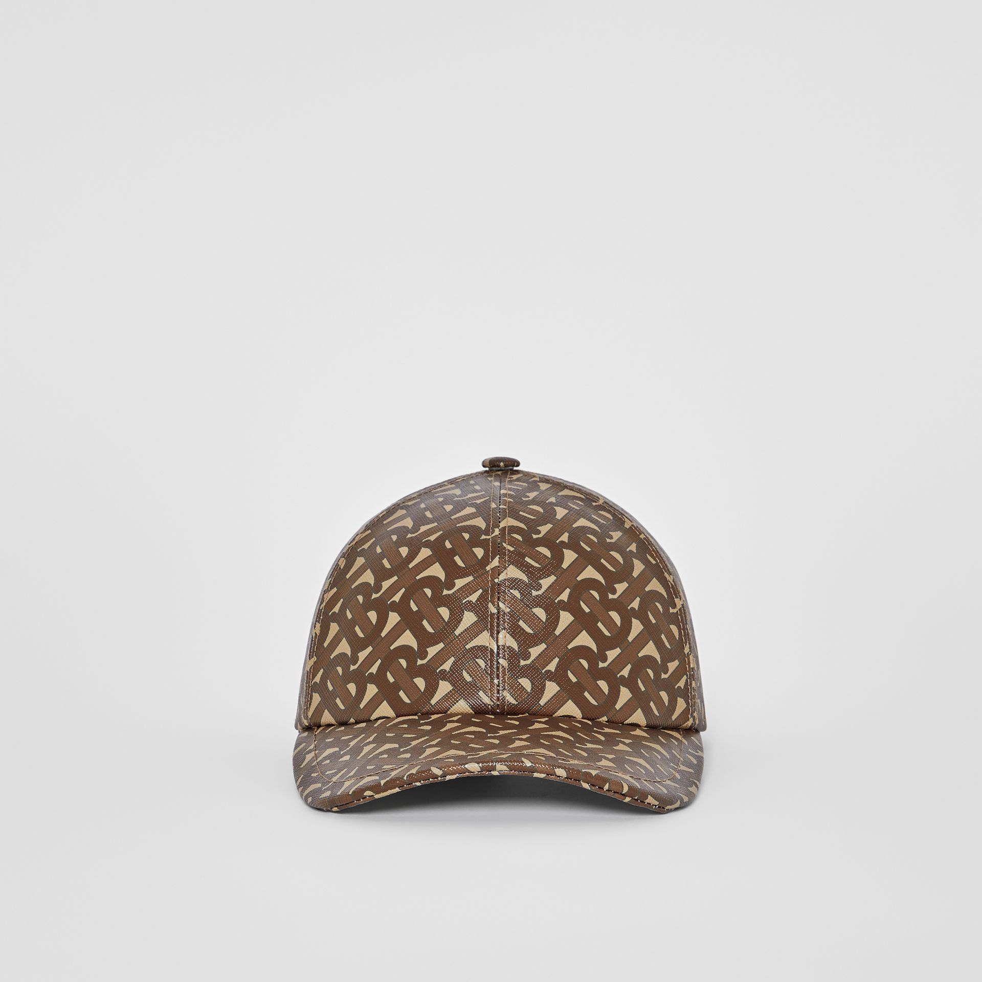 Monogram Print Baseball Cap in Bridle Brown | Burberry United Kingdom - gallery image 3