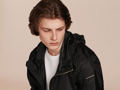 Hooded Super-lightweight Jacket Black | Burberry