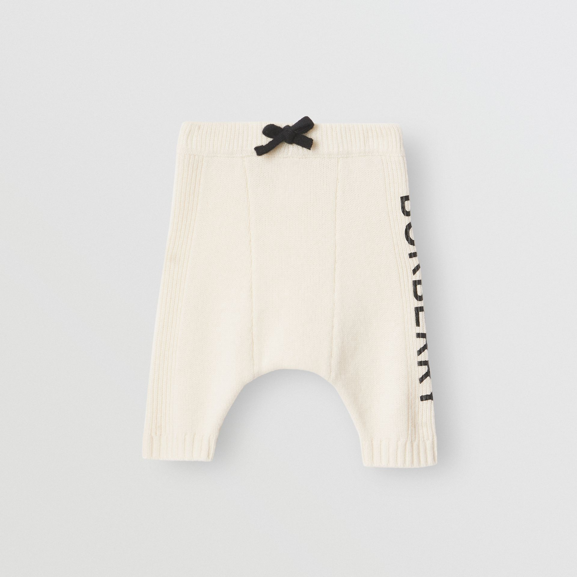 Logo Print Wool Cashmere Six-piece Baby Gift Set in Ivory - Children | Burberry Canada - gallery image 3
