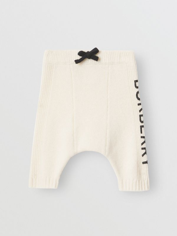 Logo Print Wool Cashmere Six-piece Baby Gift Set in Ivory - Children | Burberry Canada - cell image 3
