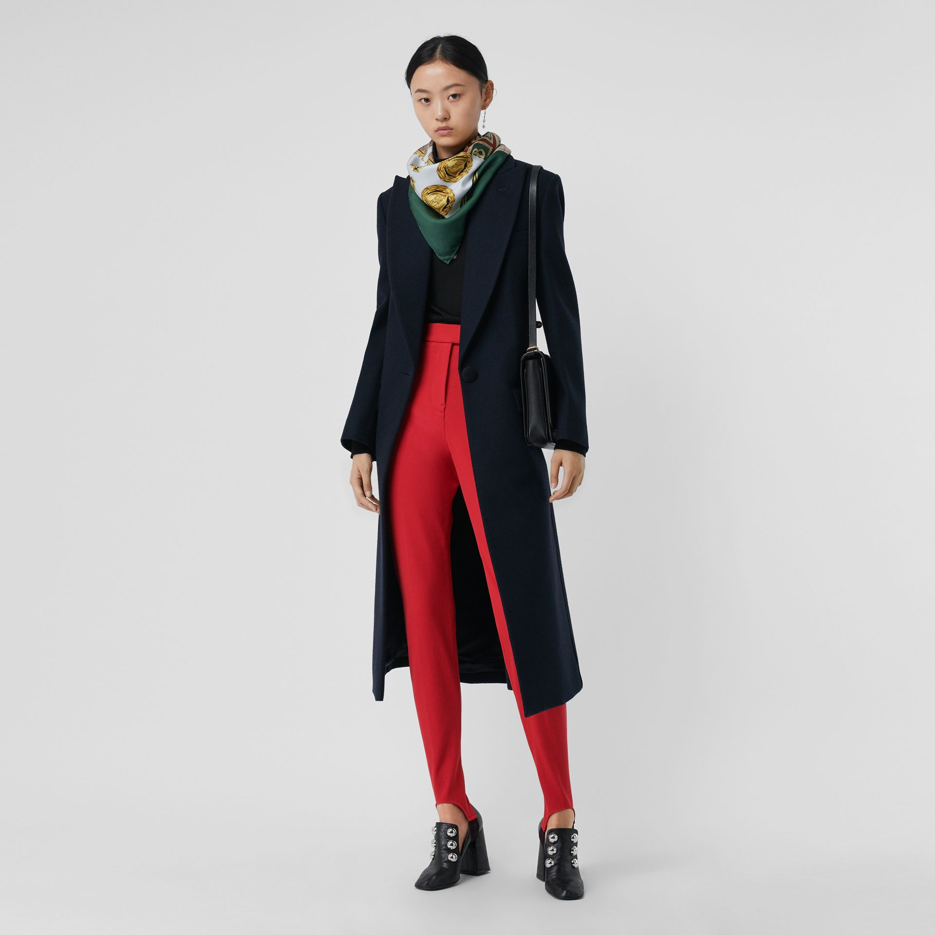 Long Cotton Blend Tailored Jodhpurs in Bright Red - Women | Burberry United Kingdom - gallery image 0