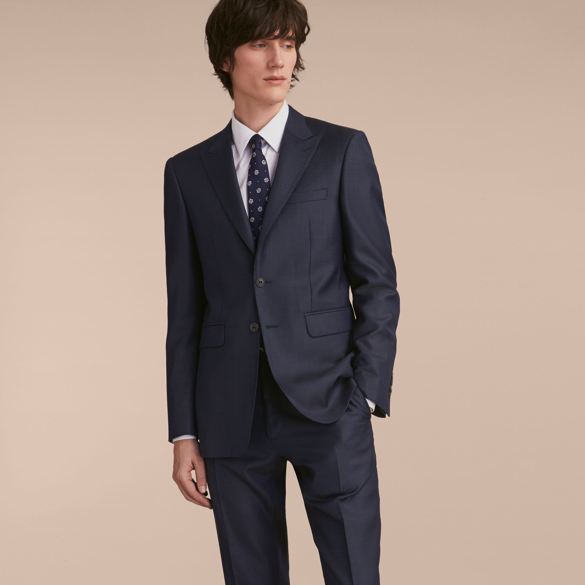 Modern Fit Wool Silk Part-canvas Suit - Men | Burberry - gallery image 8