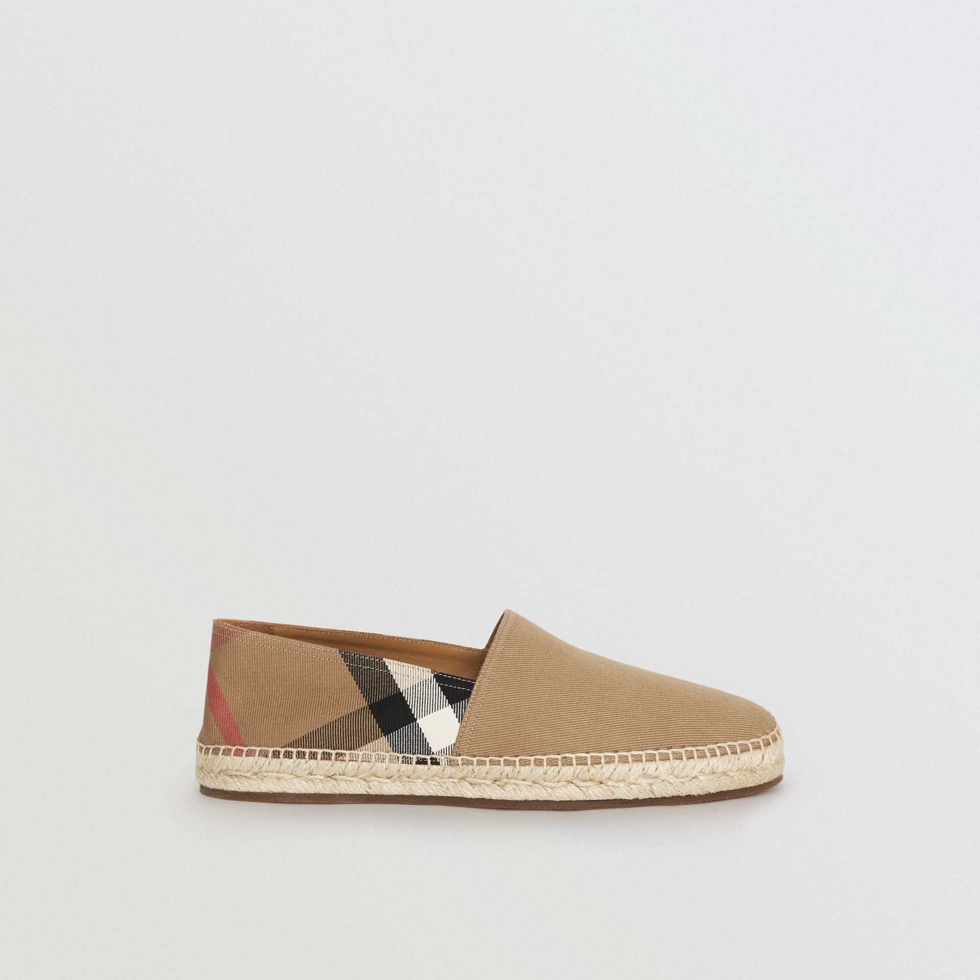 Canvas Check Espadrilles in Classic - Men | Burberry Australia - gallery image 4