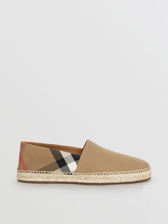Espadrilles in Canvas Check (Classic)