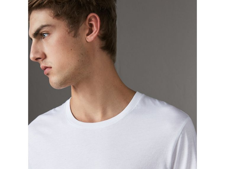 Cotton Jersey T-shirt in White - Men | Burberry Australia - cell image 1
