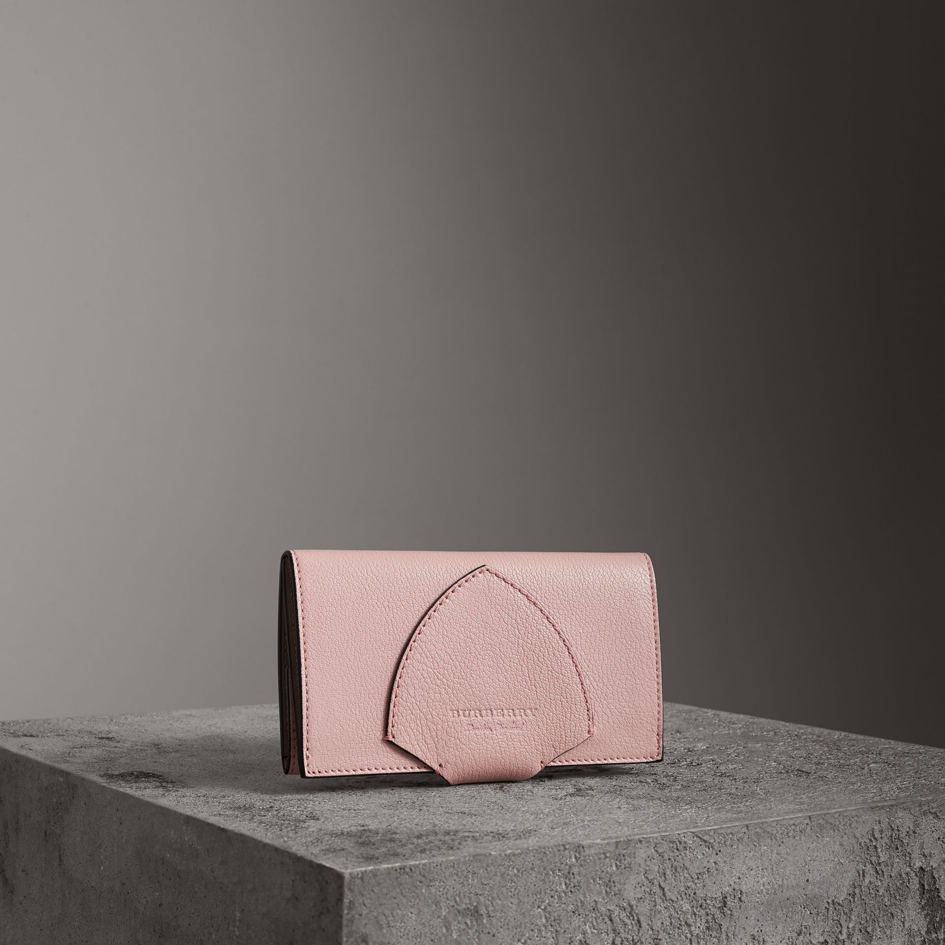 Equestrian Shield Two-tone Leather Continental Wallet in Pale Ash Rose - Women | Burberry - gallery image 0