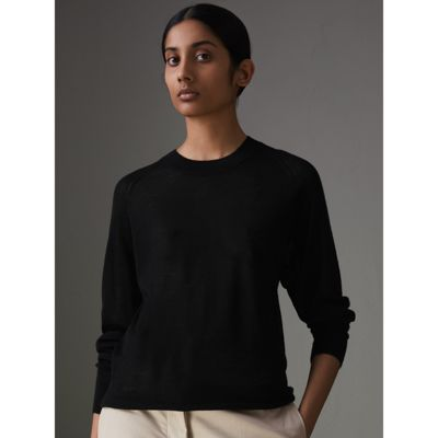 Very Cheap Cheap Online Open-stitch Detail Cashmere Sweater - Black Burberry Cheap Sale Affordable Pick A Best Online Sneakernews Cheap Price Sale Recommend 35Cm1E4U1Y