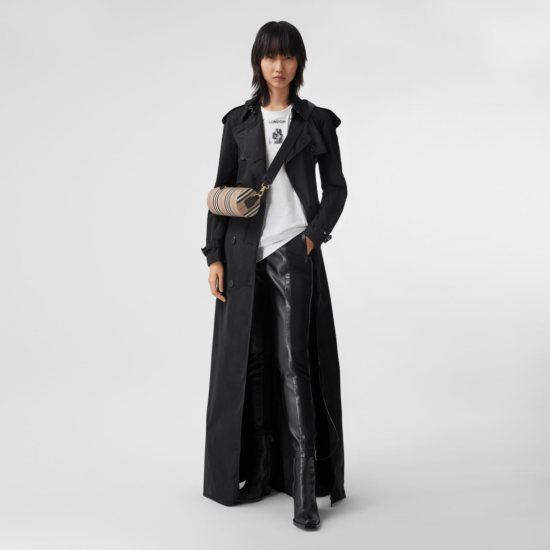 Extra Long Shape-memory Taffeta Trench Coat in Black - Women | Burberry - gallery image 0
