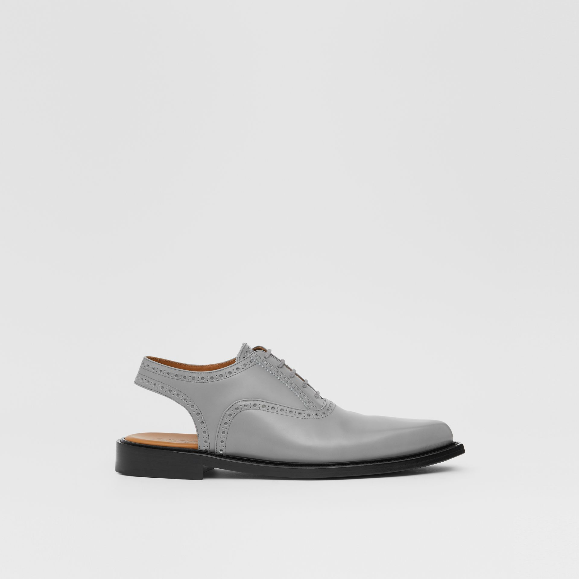 Leather Slingback Oxford Brogues in Cloud Grey | Burberry - gallery image 5