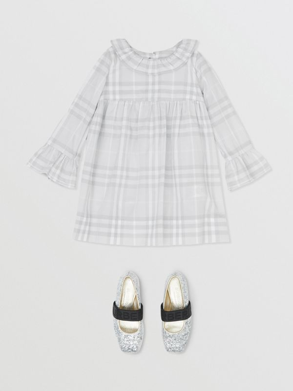 Long-sleeve Vintage Check Cotton Dress in Pale Grey - Children | Burberry - cell image 2