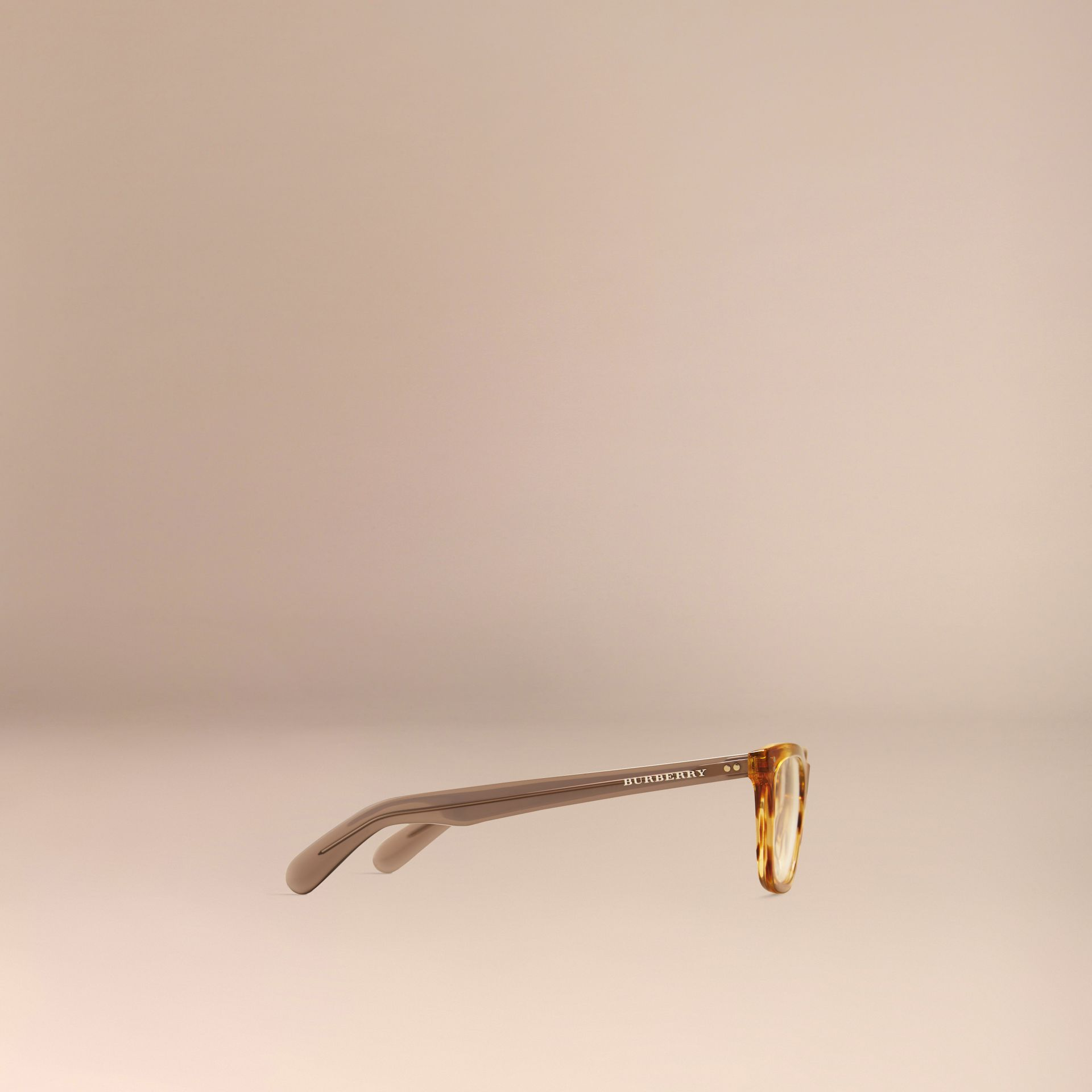 Square Optical Frames Tortoise Amber - gallery image 4