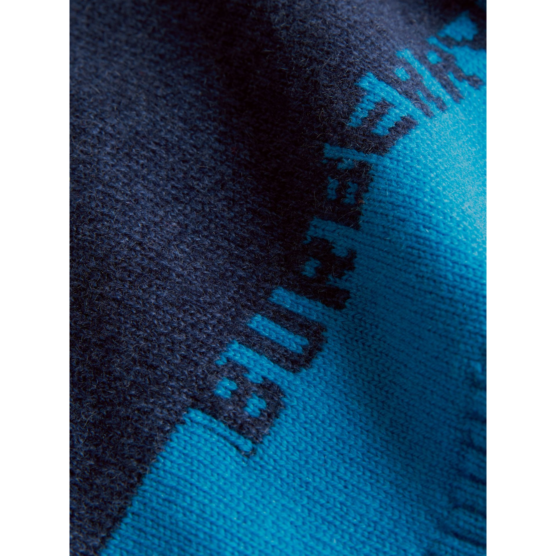 Logo Intarsia Cashmere Sweater in Navy - Children | Burberry Australia - gallery image 1