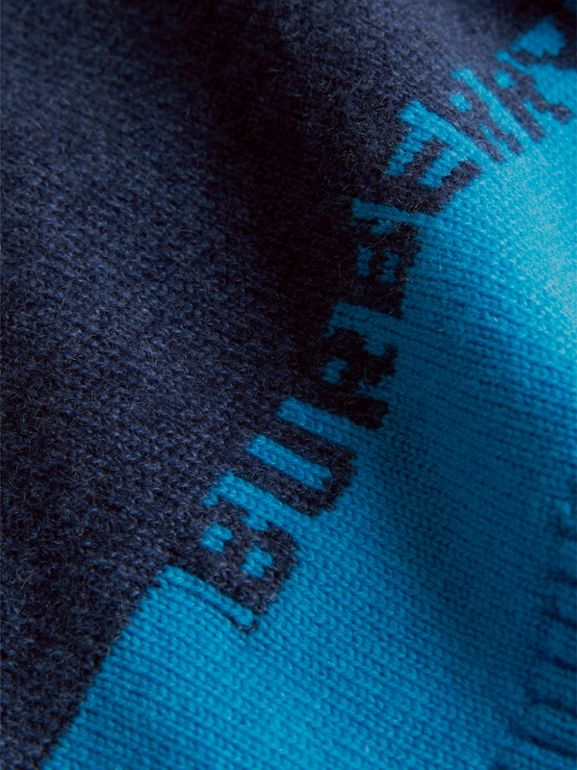 Logo Intarsia Cashmere Sweater in Navy - Children | Burberry United States - cell image 1