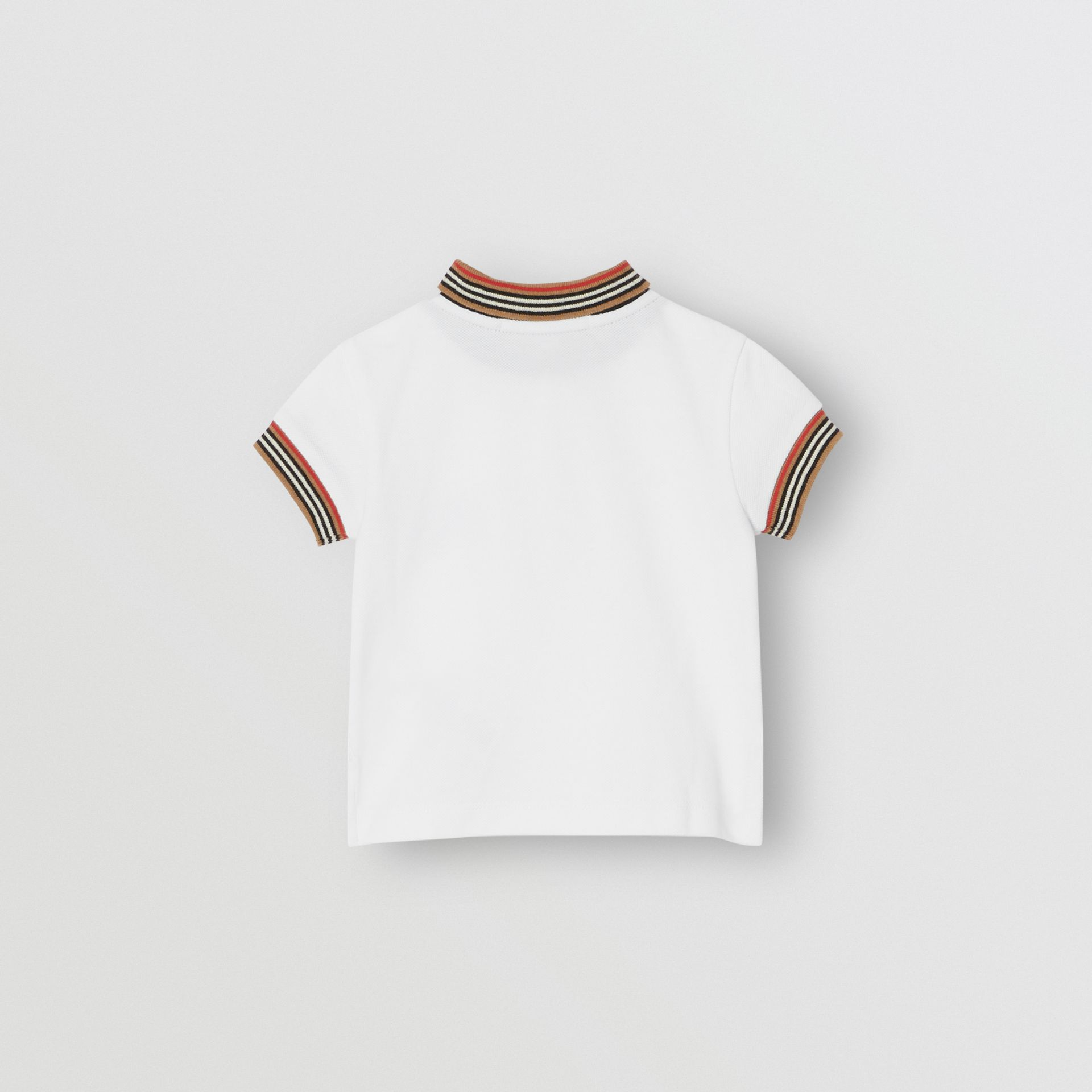 Polo en coton à rayures (Blanc) - Enfant | Burberry - photo de la galerie 3
