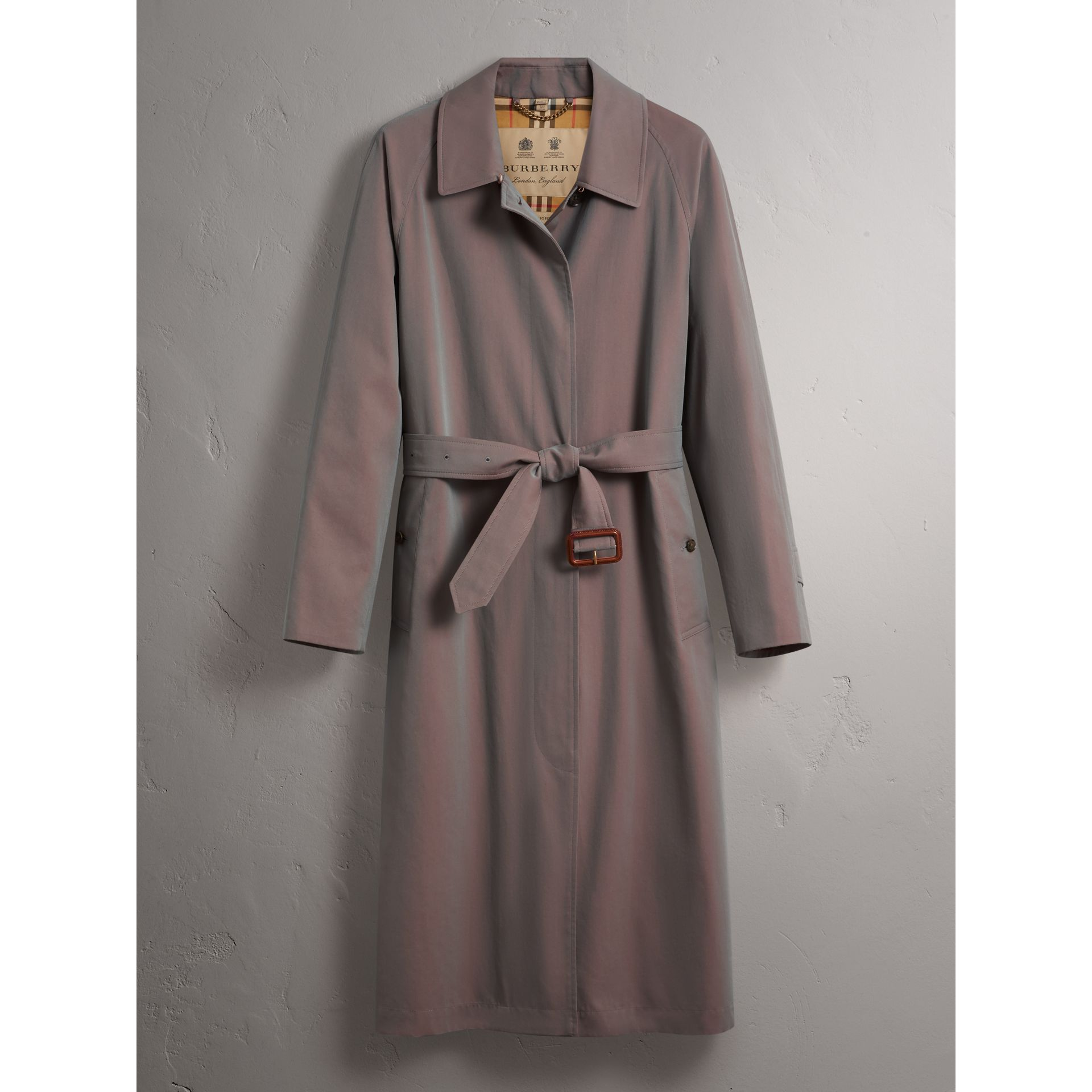 The Brighton Car Coat in Lilac Grey - Women | Burberry - gallery image 3