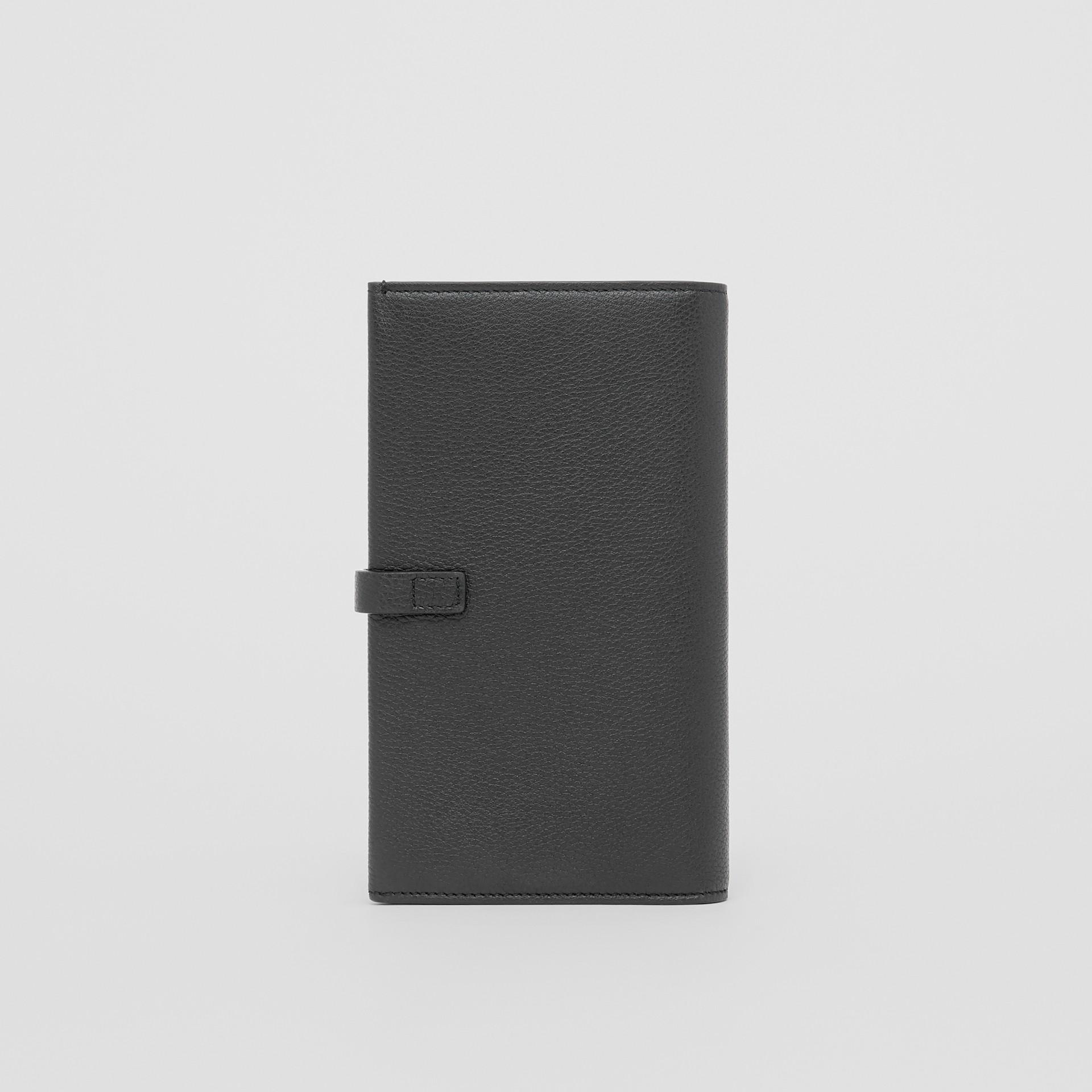 Monogram Motif Grainy Leather Folding Wallet in Black - Women | Burberry - gallery image 4