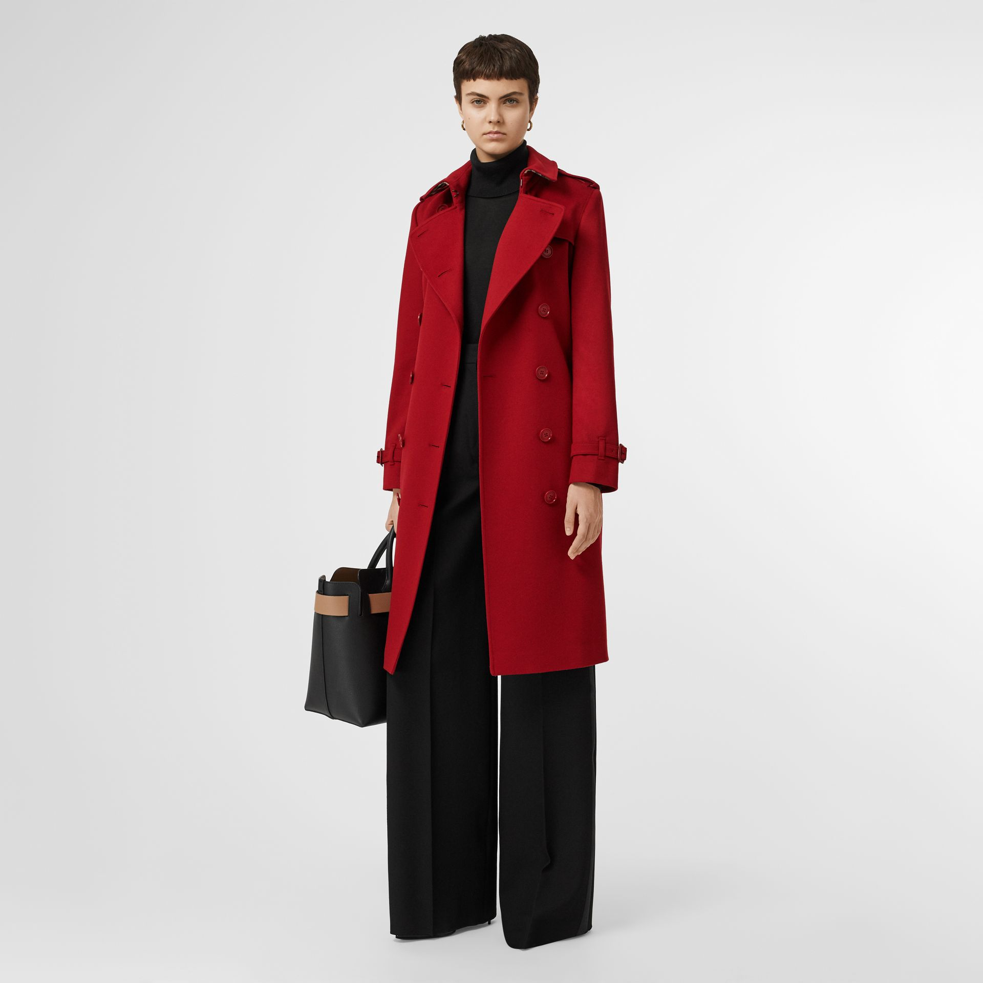 Cashmere Trench Coat in Red - Women | Burberry - gallery image 0