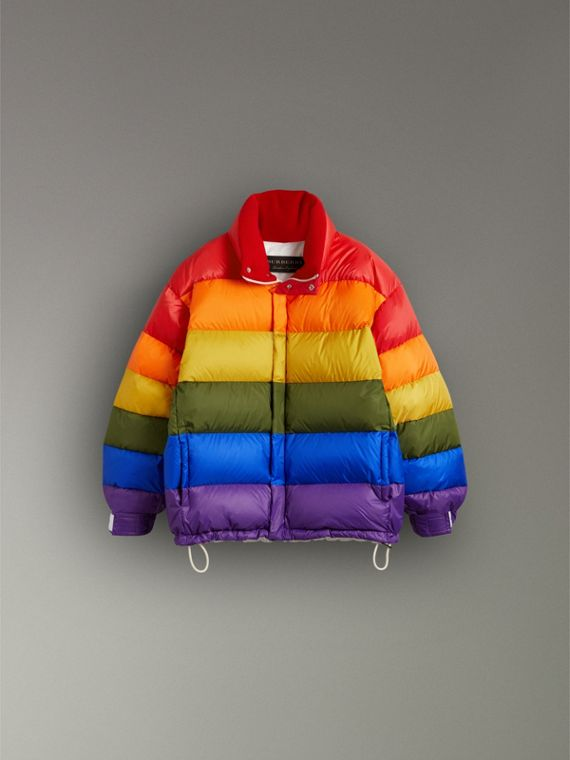 Rainbow Down-filled Puffer Jacket | Burberry - cell image 3