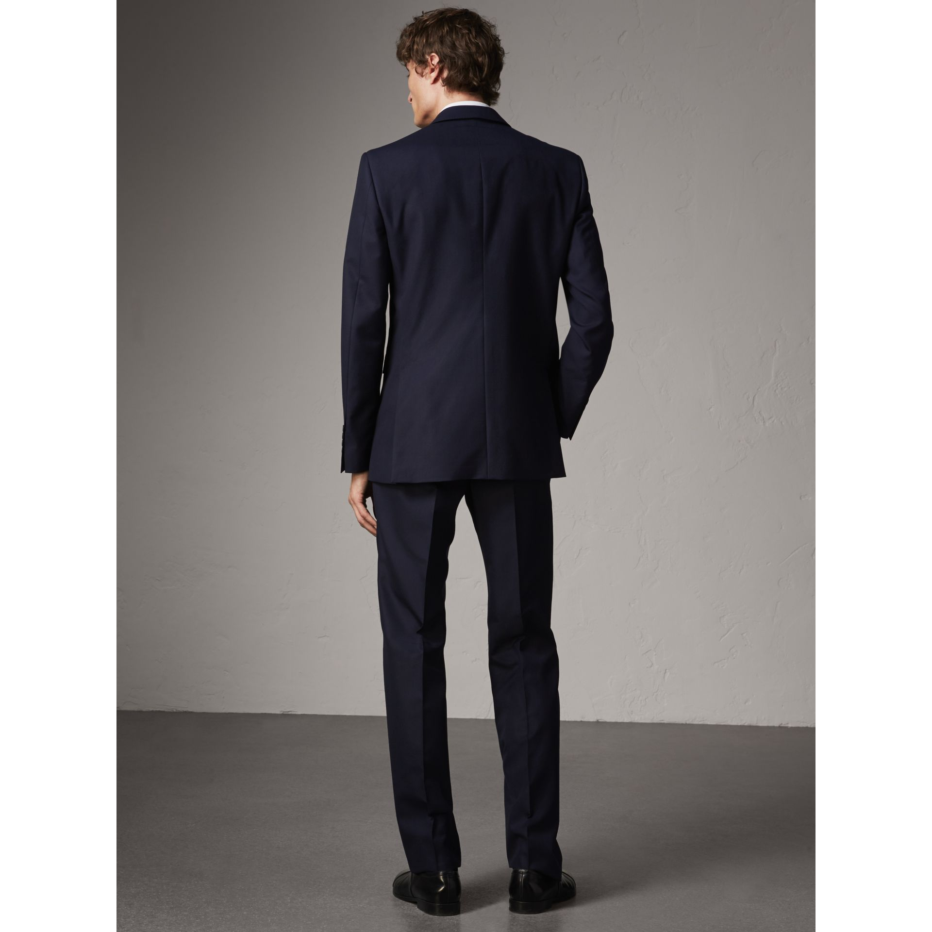 Classic Fit Wool Part-canvas Suit in Navy - Men | Burberry - gallery image 2