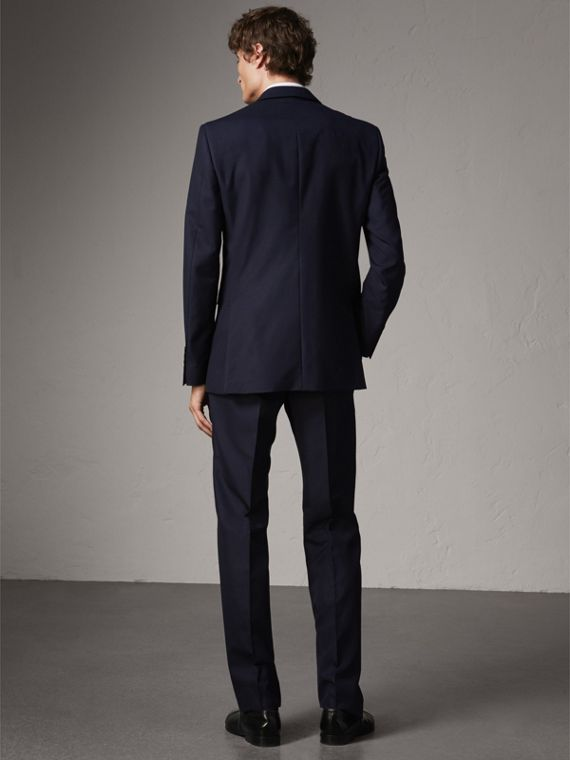 Classic Fit Wool Part-canvas Suit in Navy - Men | Burberry - cell image 2