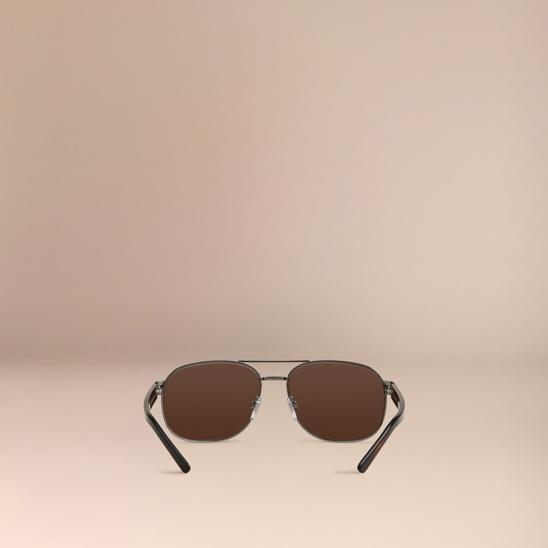 Brown Square Frame Aviator Sunglasses Brown - gallery image 3
