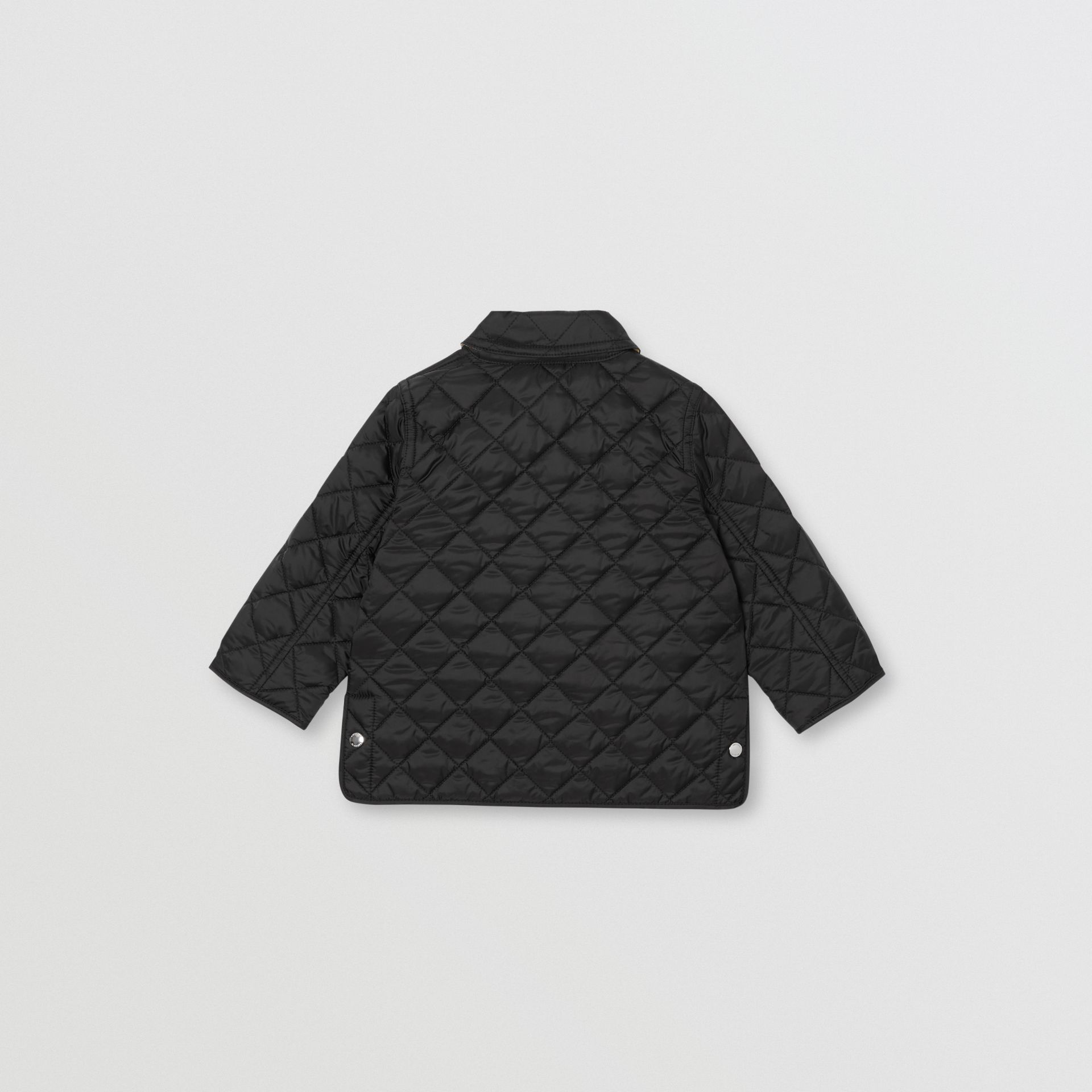 Lightweight Diamond Quilted Jacket in Black - Children | Burberry - gallery image 4