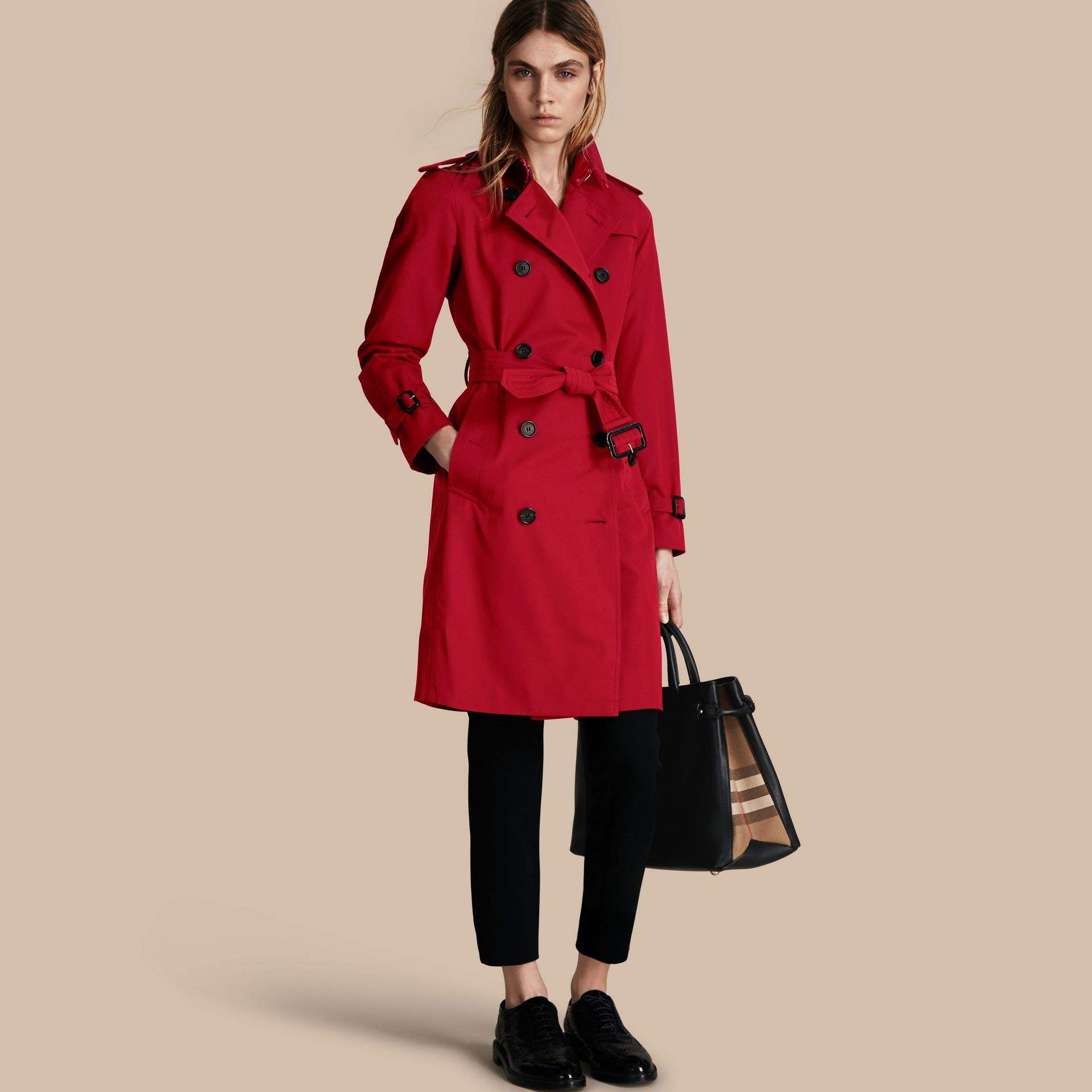 Parade red The Kensington - Trench coat Heritage longo Parade Red - galeria de imagens 1