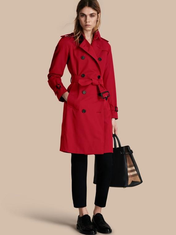 Trench coat Kensington - Trench coat Heritage largo Rojo Desfile